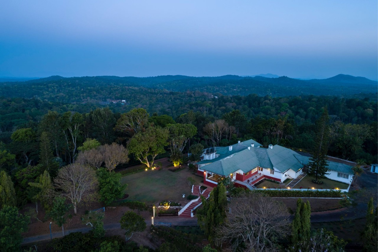 Aerial View - Pollibetta Bungalow, Coorg