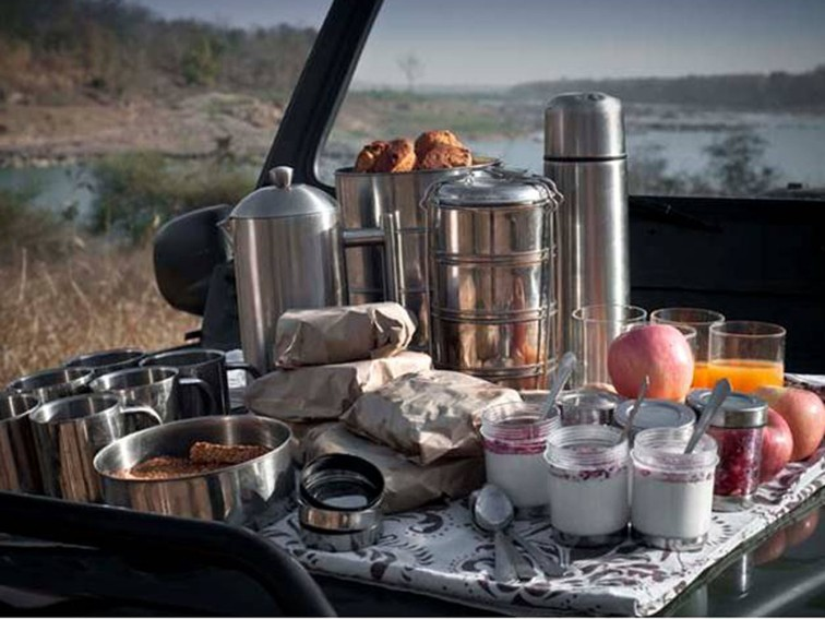 Splendid Park Breakfast at Pashan Garh, Panna National Park