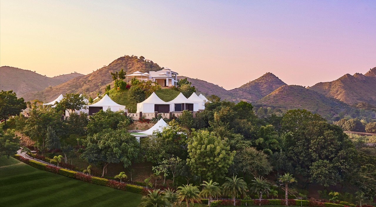 Hillside Tent Suites in Udaipur at Taj Aravali Resort & Spa, Udaipur
