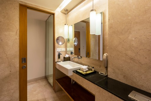 Luxury Bathroom at Premium Suite at Vivanta Bengaluru, Whitefield