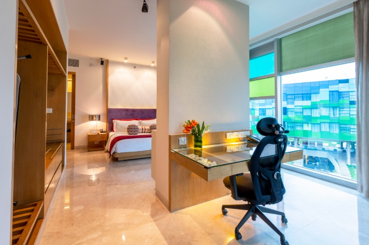 Premium Suite Living Space at Vivanta Bengaluru, Whitefield