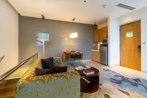 Living Space at Vivanta Suite at Vivanta Bengaluru, Whitefield